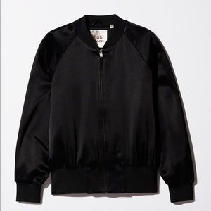 Aritzia Little Moon Sutera Bomber S Satin